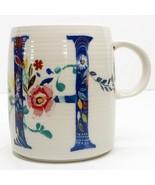 "Anthropologie Starla M Halfmann Petal Palette Monogram ""H"" 14 oz Mug Cup... - $24.74"