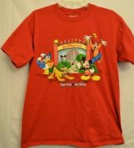 Walt Disney World T-Shirt Four Parks One World Autographs Mickey Goofy Small - $18.99