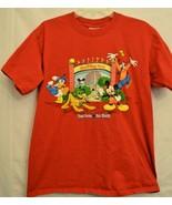 Walt Disney World T-Shirt Four Parks One World Autographs Mickey Goofy S... - $18.99