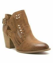 Qupid, Maple Prenton Cutout Ankle Boot - $26.00