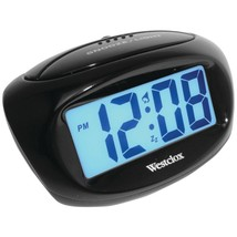 Westclox 70043X Large Easy-to-Read LCD Battery Alarm Clock - $23.81