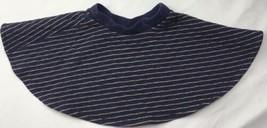 Gymboree Quilted Skirt Navy Blue Metallic Gold Full Twirl Sz 5/6 - $31.64