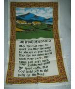 An Irish Blessing Linen Tea Towel Fingal - $12.88