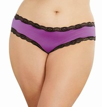 Dreamgirl IRIS/BLACK Plus Size Cheeky Crotchless Bikini, US 3X - $5.94