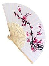 Delicate Cherry Blossom Design Silk Folding Fan Favors - $246.48