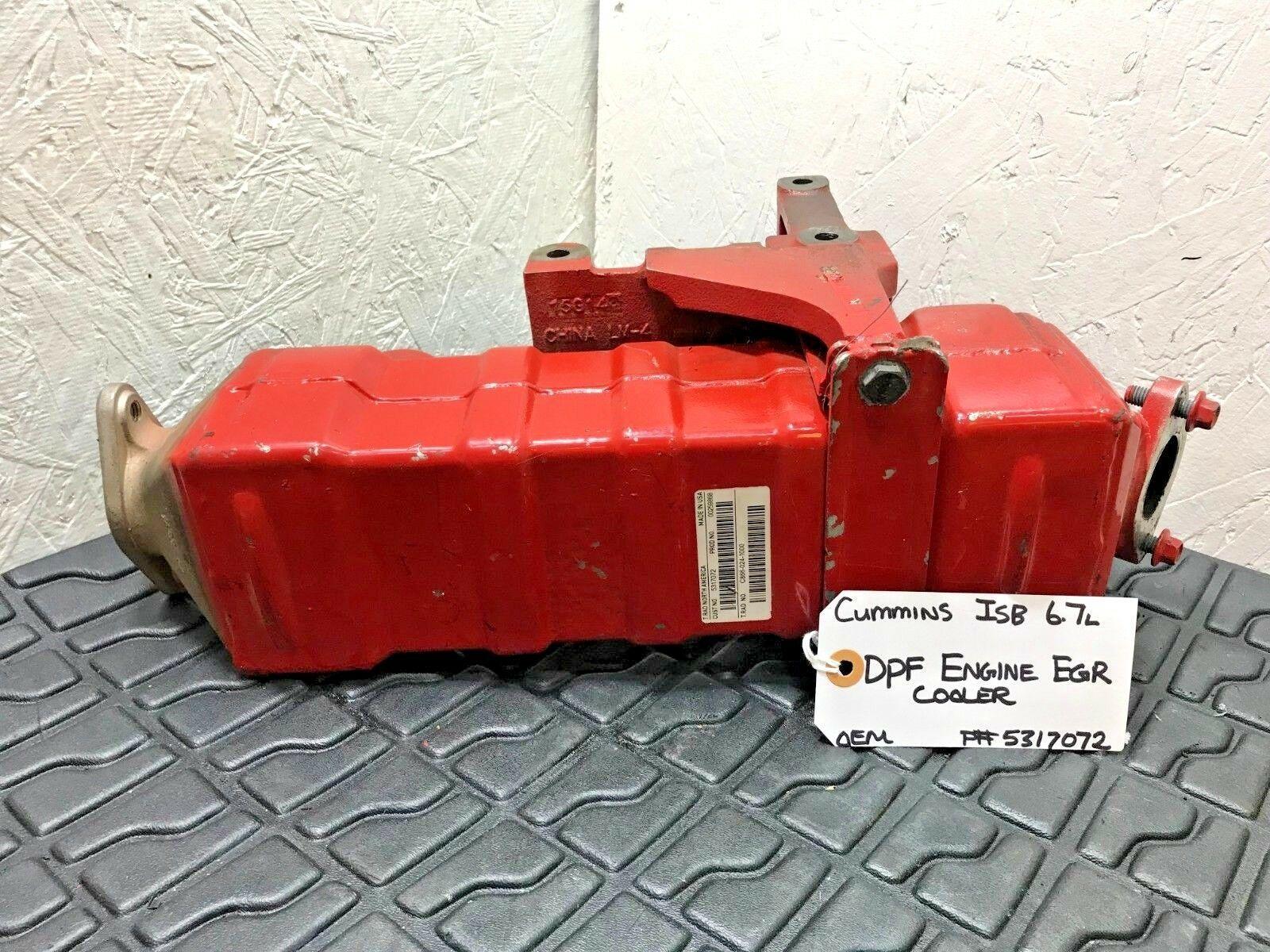 CUMMINS ISB 6.7 DPF ENGINE EGR COOLER W/ BRACKET 5317072 OEM