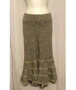 Express Stretch Long Flare Tweed Skirt Wool Blend Longer Striped Lining ... - $14.70