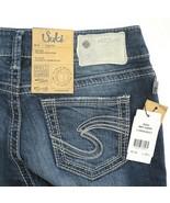 Silver Suki Dark Wash Embroidered Mid Capri Denim Jeans Womens 26 NWT - $44.42