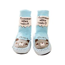 Summer Cartoon Long Style Babies Socking (Blue Bear Pattern, 13cm) image 2