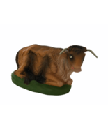Nativity Italian Vintage Pieces Donkey Cow Laying Down Animal Hand Paint... - $19.80