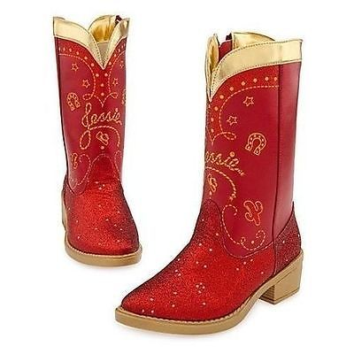 Disney Store Deluxe Toy Story Jessie the Cowgirl Red Sparkle Cowboy Boots 9 10