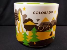 Starbucks You are Here coffee mug COLORADO YAH 2013 green interior 14 oz - $17.90