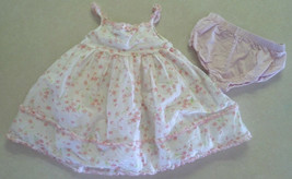 Girl's Size 12 M Months Two Piece Set White W/ Pink Floral Fluffy Ruffle... - $25.00