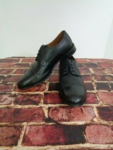 Men's Bostonian Oxfords Dress Shoe Size 11 W Black Leather Cap Toe o - $27.43