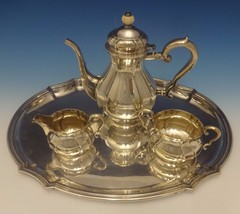 C.C. Hermann Danish Sterling Silver Tea Set 3pc with Tray (#0442) - $3,415.73