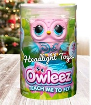 Pink Owleez Interactive Flying Baby Owl Lights Sounds Nest Helicopter Drone Toy - $47.52