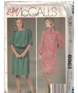8961 Uncut Mccalls Nähmuster Misses Schmal Pullover Tie Belt Einfach Fre... - $4.15+