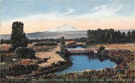Mt Adams from Sunnyside Canal Washington 1910c postcard - $6.44