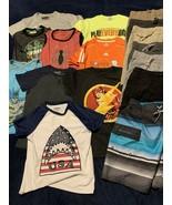 Boys Lot of 16 Shorts Tshirts Tanks Swim Size Small 7 Spiderman Flash Batman - €24,12 EUR