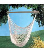Swinging cotton net hammock chair, garden yard ... - $28.00