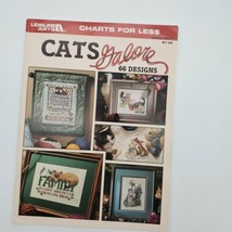 Leisure Arts Cats Galore 2821 Counted Cross Stitch Patterns Charts Book  - $7.43
