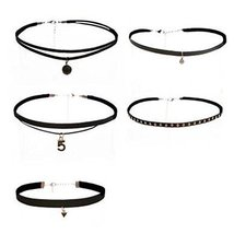 Fashion Necklace 5 Pcs Choker Collar Girls Lady All-Purpos Style