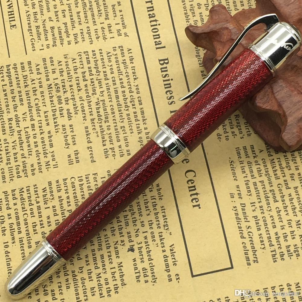 Good quality Classical Black/Red Metal Roller Ball Pen silver clip MT luxury pen