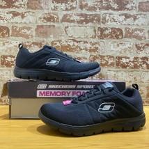 Skechers Women Memory Foam Style 13046/BKW Size 9.5M - $35.99