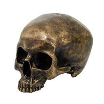 Brush Gold Cool Skull Collectible Figurine - $22.28
