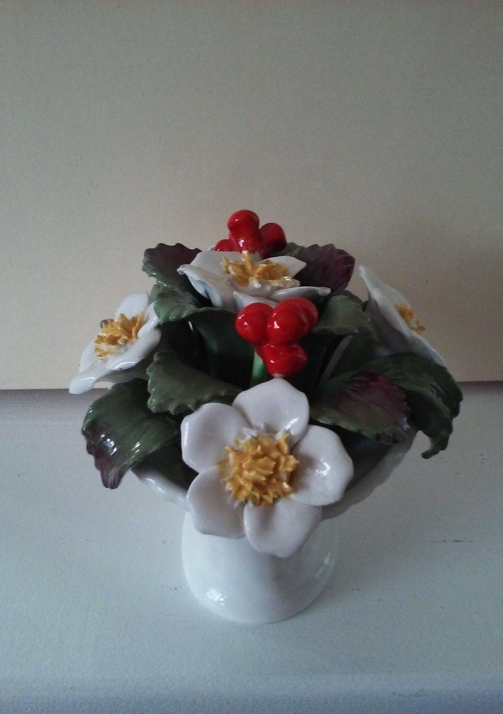 Vintage Aynsley Bone China December Christmas Rose Basket hand painted bouquet image 6