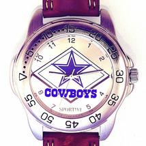 Dallas Cowboys Sportivi, Unworn NFL Man's Vintage 1997, Heavy Leather Watch! $75 - $74.10