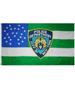 NYPD Badge Shield City Of New York Police Department Shield 100D 3x5 3'x... - £7.23 GBP