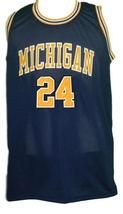 Jimmy King #24 College Retro Basketball Jersey Sewn Navy Blue Any Size image 4