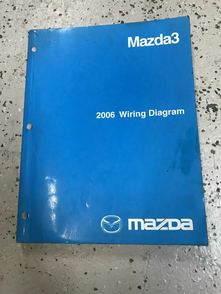 Primary image for 2006 Mazda3 Mazda 3 Electrical Wiring Diagram Troubleshooting Manual EWD EVTM