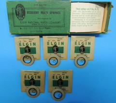 Elgin Resilient Watch Main Spring 1713 0s Watchmaker Repair Parts 5 ea & box USA - $38.79