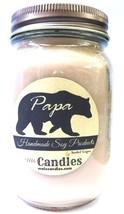 Papa Bear 16 ounce Country Jar Handmade Soy Candle - $17.69