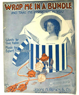 Wrap Me In A Bundle And Take Me Home With You 1914 Vintage Sheet Music G... - $14.46
