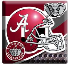 ALABAMA CRIMSON TIDE FOOTBALL TEAM 2 GANG LIGHT SWITCH WALL PLATE ROOM A... - $12.99