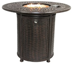 "OUTDOOR PATIO 52"" ROUND BAR HEIGHT FIRE TABLE - SERIES 2000 - $2,970.00"