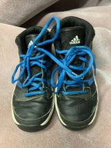 Adidas Ortholite Boy Blue Black 3 Stripe Basketball Sneaker Size 1.5 - $13.98