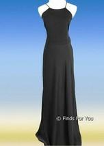 J Crew Women's Carly Long Dress In Drapey Matte Crepe Black Sz 8 B7085 - $55.19