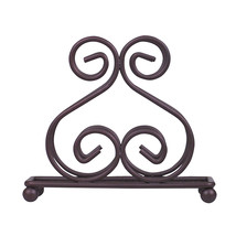 Home Basics Scroll Collection Bronze Dining Room Kitchen Wire Napkin Holder - $9.89