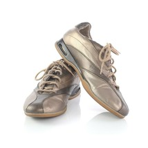 Cole Haan Metallic Taupe Brown Fashion Sneakers Lace Up Shoes Womens 8 B - $39.47