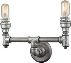 "Elk Lighting 10683/2 Vanity-Lighting-fixtures 10 x 15 x 6"" Gray - $182.00"