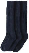 Jefferies Socks Big Girls' Cable-Knit Knee-High Sock Three-Pack (Medium ... - $21.28