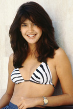 Phoebe Cates sexy young pose in zebra striped bikini 18x24 Poster - $23.99