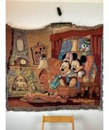 Vintage Mickey Mouse Disney Throw Blanket - $98.99