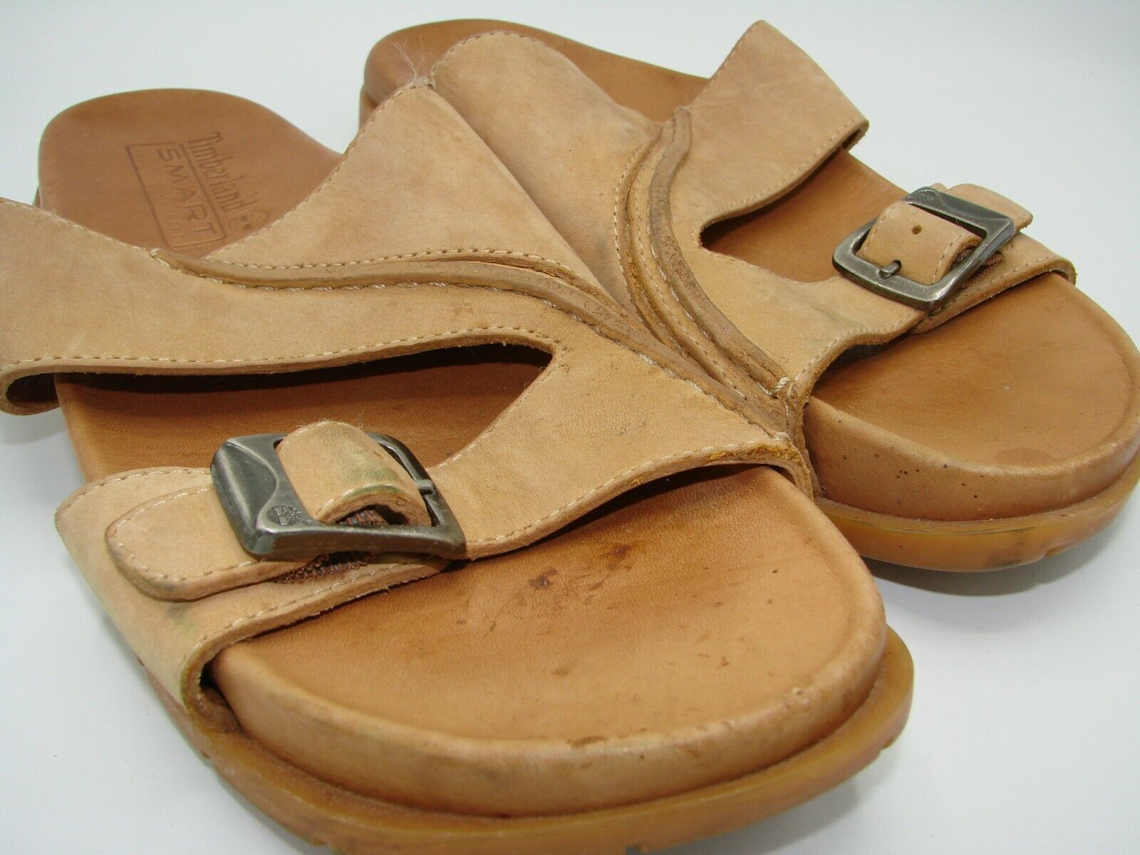 Primary image for Timberland Smart Comfort System Women's Leather Sandals Size 7M Tan