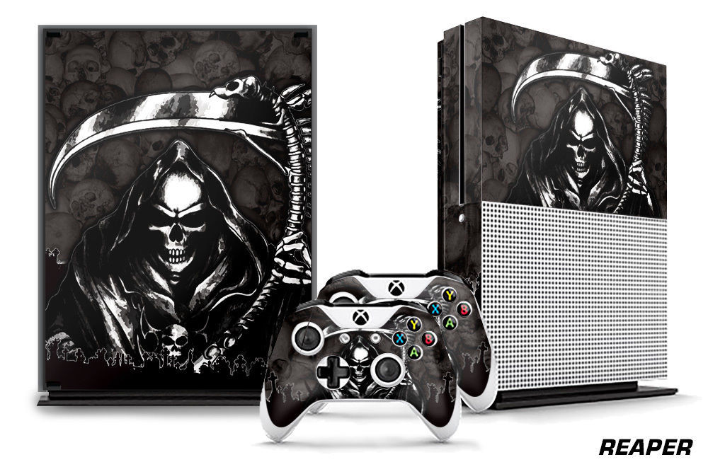 Designer Skin for XBOX ONE S 1S Gaming Console+2 Controller Sticker Decal REAPER