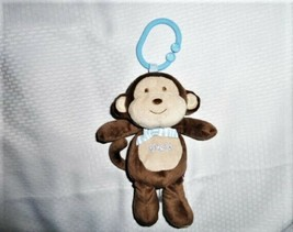 2012 Babies R us Stuffed Plush Musical Ring Link Clip Monkey Take Along Toy - $29.69